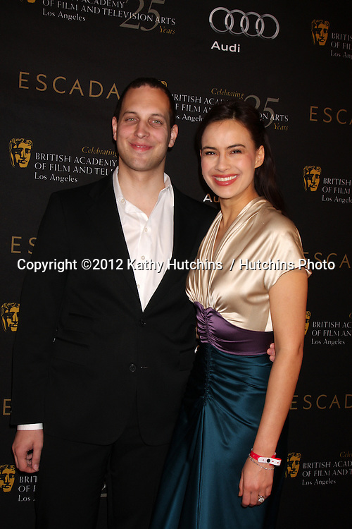LOS ANGELES - JAN 14:  Frederick Windsor; Sophie Winkleman arrives at  the BAFTA Award Season Tea Party 2012 at Four Seaons Hotel on January 14, 2012 in Beverly Hills, CA