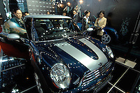 "A mini checkmate car for sale at the ""Top Show"" Luxury Goods Fair in Shenzhen, China.."