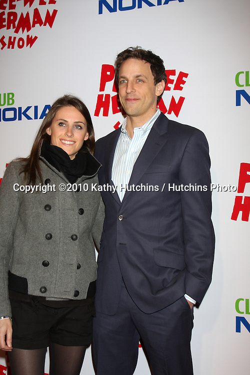 """Seth Meyers.arriving at the """"The Pee Wee Herman Show"""" Opening Night..Club Nokia.Los Angeles, CA.January 20, 2010.©2010 Kathy Hutchins / Hutchins Photo...."""