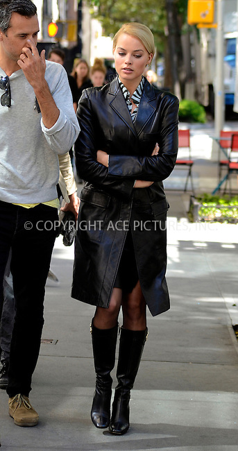 WWW.ACEPIXS.COM....September 25 2012, New York City....Actress Margot Robbie was on the set of the new movie 'The Wolf of Wall Street' on September 25 2012 in New York City....By Line: Curtis Means/ACE Pictures......ACE Pictures, Inc...tel: 646 769 0430..Email: info@acepixs.com..www.acepixs.com