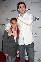 """LOS ANGELES - AUG 4:  Aidan Moreno, Kristos Andrews at the """"The Bay"""" Red Carpet Extravaganza at the Open Air Kitchen + Bar on August 4, 2014 in West Hollywood, CA"""