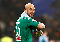 Calcio, Serie A: Inter - Napoli, Milano, stadio Giuseppe Meazza (San Siro), 11 marzo 2018.<br /> Napoli's goalkeeper Jos&egrave; Manuel Reina at the end of the Italian Serie A football match between Inter Milan and Napoli at Giuseppe Meazza (San Siro) stadium, March 11, 2018.<br /> Inter Milan and Napoli drawns 0-0.<br /> UPDATE IMAGES PRESS/Isabella Bonotto