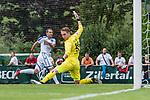 07.07.2019, Parkstadion, Zell am Ziller, AUT, TL Werder Bremen Zell am Ziller / Zillertal Tag 03 - FSP Blitzturnier<br /> <br /> im Bild<br /> Luca Plogmann (Werder Bremen #40) schaut einem Ball hinterher, <br /> <br /> im dritten Spiel des Blitzturniers SV Werder Bremen vs Karlsruher SC, <br /> <br /> Foto © nordphoto / Ewert