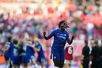 Eniola Aluko of Chelsea Ladies celebrates her side's victory <br /> <br /> Photographer Craig Mercer/CameraSport<br /> <br /> The SSE Women's FA Cup Final - Arsenal Women v Chelsea Ladies - Saturday 5th May 2018 - Wembley Stadium - London<br />  <br /> World Copyright &copy; 2018 CameraSport. All rights reserved. 43 Linden Ave. Countesthorpe. Leicester. England. LE8 5PG - Tel: +44 (0) 116 277 4147 - admin@camerasport.com - www.camerasport.com
