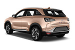 Car pictures of rear three quarter view of 2019 Hyundai Nexo - 5 Door SUV Angular Rear