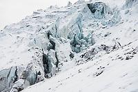 Crevasse on Cotopaxi Volcano, Cotopaxi National Park, Cotopaxi Province, Ecuador