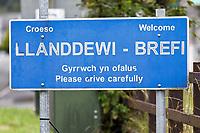 Llanddewi Brefi in Ceredigion, Wales, UK. Thursday 23 August 2019