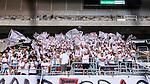 Stockholm 2014-07-28 Fotboll Superettan Hammarby IF - Assyriska FF :  <br /> Assyriskas supportrar med flaggor<br /> (Foto: Kenta J&ouml;nsson) Nyckelord:  Superettan Tele2 Arena Hammarby HIF Bajen Assyriska AFF supporter fans publik supporters