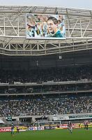 SÃO PAULO,SP, 11.03.2017 - PALMEIRAS-SÃO PAULO – Homenagem à Moacir Bianchi, (um dos fundadores da Torcida Mancha Verde do Palmeiras assassinado com 22 tiros no dia 2/3), durante partida Palmeiras contra o São Paulo, válida pela oitava rodada do Campeonato Paulista 2017, disputada na Arena Allianz Parque em São Paulo, na tarde deste sabado, 11.  (Foto: Levi Bianco/Brazil Photo Press)