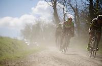 Frederique Robert (BEL/Crelan-Vastgoedservice) easting dust<br /> <br /> 33th Tro Bro L&eacute;on 2016