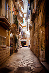 An alleyway in the old town of Bari in Italy