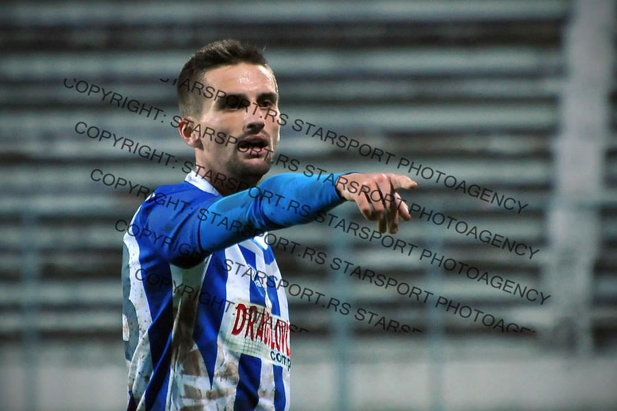 Fudbal Jelen Super League season 2016-2017<br /> Novi Pazar v Napredak (Krusevac)<br /> Darko Micevski reaguje<br /> Novi Pazar, 22. 10. 2016<br /> foto: Emir Sadovic/Starsportphoto &copy;