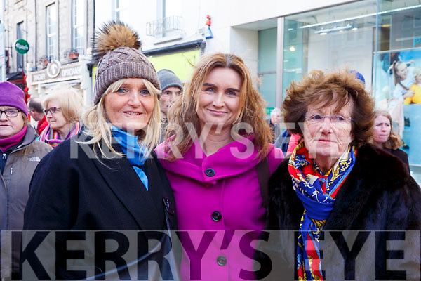 Attending the Kerry County Council and Tralee Chamber Alliance will Street Party and Family Fun Day on Saturday last, l to r, Elaine Clancy, Samantha Palmer and Helen McElligott