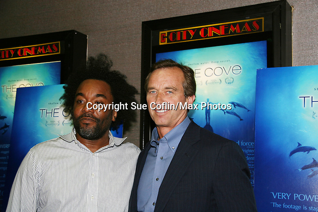 Lee Daniels and Robert F. Kennedy Jr. at the New York Screening of The Cove, Cinema 2, NYC. (Photo by Sue Coflin/Max Photos)
