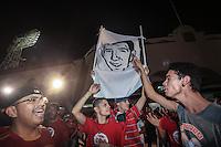 Cartel con el rostro o caricatura de Oscar Rai Villa. CimarronesFC vs Loros de Colima<br /> © Foto: LuisGutierrez/NORTEPHOTO.COM