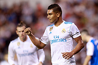 Real Madrid's Carlos Enrique Casemiro celebrates goal during La Liga match. August 20,2017. (ALTERPHOTOS/Acero)<br /> Deportivo La Coruna - Real Madrid <br /> Liga Campionato Spagna 2017/2018<br /> Foto Alterphotos / Insidefoto <br /> ITALY ONLY