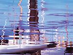 Abstract Sailboat Reflections in Friday Harbor, San Juan Island, Washington State