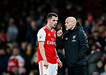 Arsenal's Granit Xhaka with Freddie Ljungberg  during the Premier League match at the Emirates Stadium, London. Picture date: 5th December 2019. Picture credit should read: David Klein/Sportimage