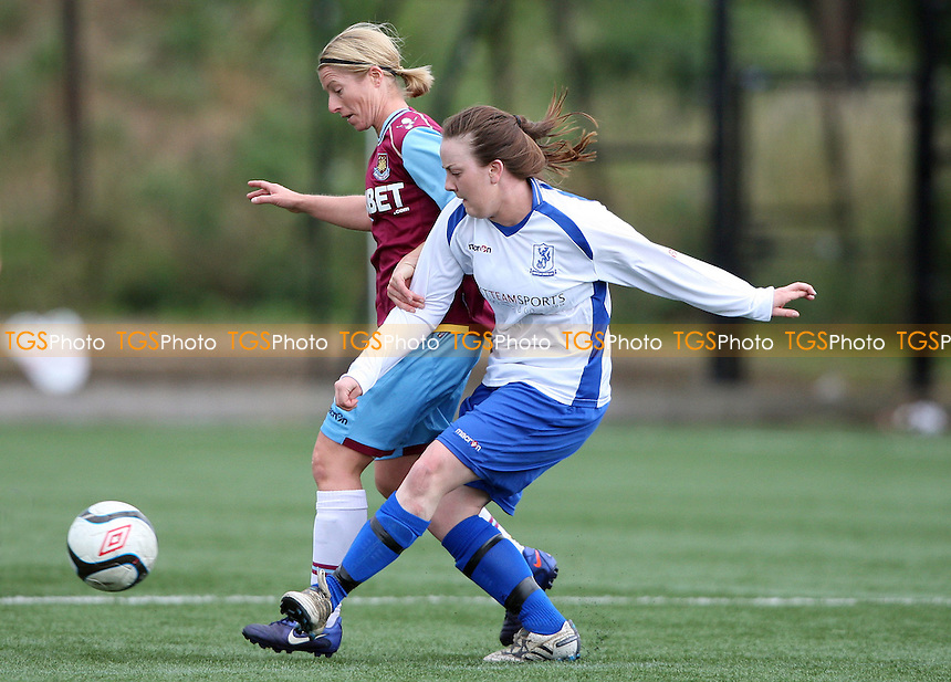 Lindsey Morgan of West Ham in action - West Ham United Ladies vs Enfield Town Ladies, Pre-season Friendly at Chadwell Heath - 15/07/12 - MANDATORY CREDIT: Rob Newell/TGSPHOTO - Self billing applies where appropriate - 0845 094 6026 - contact@tgsphoto.co.uk - NO UNPAID USE.