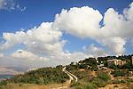 Israel, Upper Galilee, Kibbutz Manara overlooking the Hula Valley