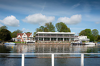Henley on Thames. United Kingdom.   2018 Henley Royal Regatta, Henley Reach. <br />   <br /> Phyllis Court Club Grandstand and Hospitaliy area, Course Construction<br /> <br /> Thursday  03/05/2018<br /> <br /> [Mandatory Credit: Peter SPURRIER:Intersport Images]<br /> <br /> LEICA CAMERA AG  LEICA Q (Typ 116)  f5.6  1/800sec  35mm  42.5MB