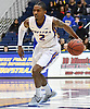 Deron Powers #2 of Hofstra University dribbles past midcourt during an NCAA men's basketball game against Drexel at Mack Sports Complex in Hempstead, NY on Saturday, Feb. 4, 2017.