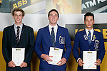 Boys Cycling finalists Alex Cull, Tom David & Myron Simpson. ASB College Sport Young Sportperson of the Year Awards 2007 held at Eden Park on November 15th, 2007.