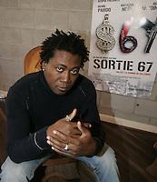 Jephte Bastien, r&eacute;alisateur de SORTIE 67, en 2010<br /> <br /> PHOTO : Pierre Roussel -  Agence Quebec Presse