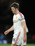 Michael Carrick of Manchester United walks off the pitch after the first half<br /> - Barclays Premier League - Bournemouth vs Manchester United - Vitality Stadium - Bournemouth - England - 12th December 2015 - Pic Robin Parker/Sportimage