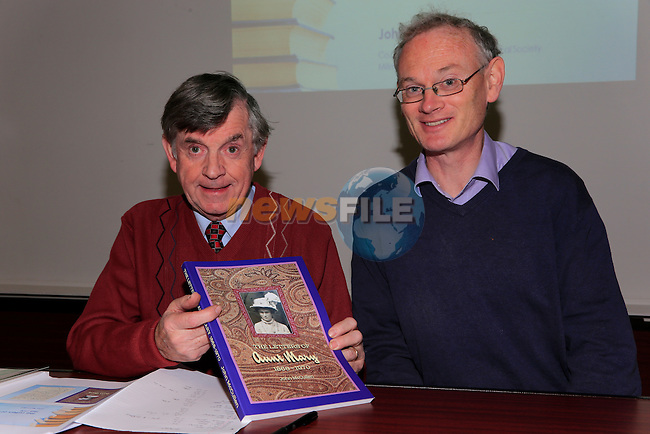 &lsquo;Letters to Aunt Mary&rsquo; an illustrated lecture by John McCullen in Governor&rsquo;s House, Millmount, pictured John McCullen and Seamus Bellew<br /> Picture: Fran Caffrey www.newsfile.ie