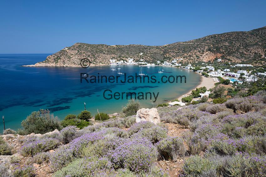 Greece, South Aegean, Cyclades, Sifnos  island, Vathi: Vathi beach | Griechenland, Suedliche Aegaeis, Kykladen, Insel Sifnos, Vathi: Vathi beach