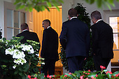 United States President Barack Obama (2nd-L) talks with Denmark Prime Minister Lars Lokke Rasmussen (L) as other leaders of Nordic countries follow behind as they walk to the Oval Office for a meeting at the White House in Washington, D.C. on May 13, 2016. President Obama welcomed Prime Minister Rasmussen as well Iceland Prime Minister Sigurdur Ingi Johannsson, Denmark Prime Minister Lars Lokke Rasmussen, Norway Prime Minister Erna Solberg, Sweden Prime Minister Stefan Lofven and Finland President Sauli Niinisto to the White House to discuss economic, environmental and security concerns in the Nordic region. <br /> Credit: Kevin Dietsch / Pool via CNP