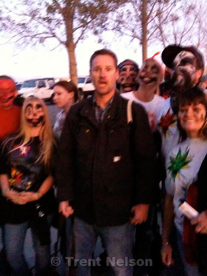 . Thursday, October 1 2009.trent nelson with juggalos at insane clown posse, saltair