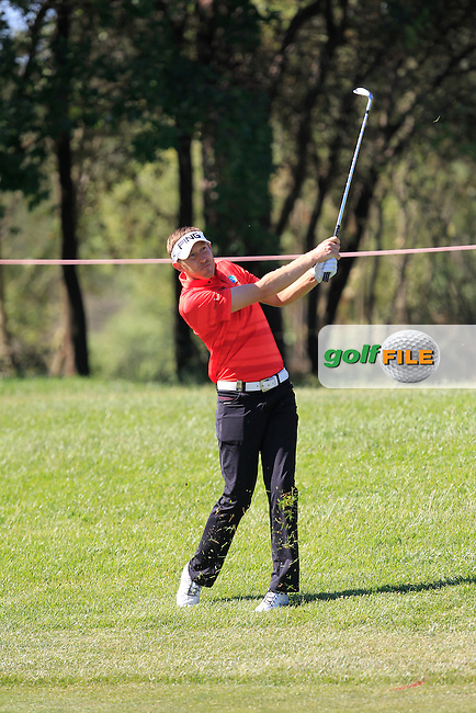 Jason Palmer (ENG) on the 2nd fairway during Round 4 of the Open de Espana  in Club de Golf el Prat, Barcelona on Sunday 17th May 2015.<br /> Picture:  Thos Caffrey / www.golffile.ie