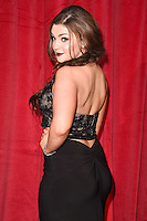 Sarah George<br /> arrives for the British Soap Awards 2016 at Hackney Empire, London.<br /> <br /> <br /> &copy;Ash Knotek  D3124  28/05/2016