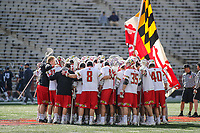 College Park, MD - March 18, 2017: Maryland Terrapins before the  game between Villanova and Maryland at  Capital One Field at Maryland Stadium in College Park, MD.  (Photo by Elliott Brown/Media Images International)