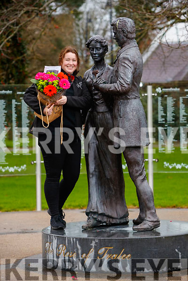 Florist leona Fitzmaurice taking part in Lonely Bouquet national event at the Rose of tralee monument in Tralee Town park.