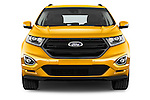 Car photography straight front view of a 2017 Ford Edge Sport-4wd 5 Door Suv Front View