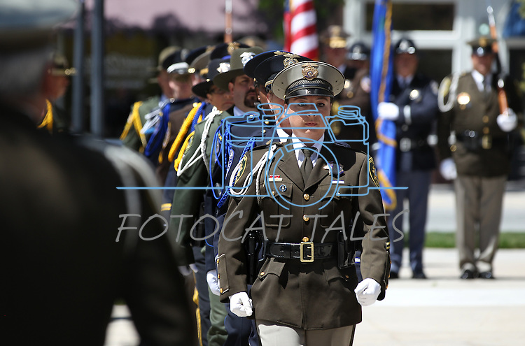The Nevada Law Enforcement Officers Memorial ceremony Thursday morning, May 5, 2011, on the Capitol grounds in Carson City, Nev..Photo by Cathleen Allison