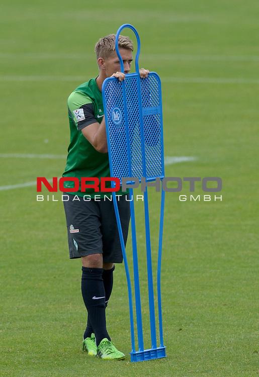 07.08.2013, Trainingsgelaende, Bremen, GER, 1.FBL, Training Werder Bremen, im Bild Nils Petersen (Bremen #24)<br /> <br /> Foto &copy; nph / Frisch