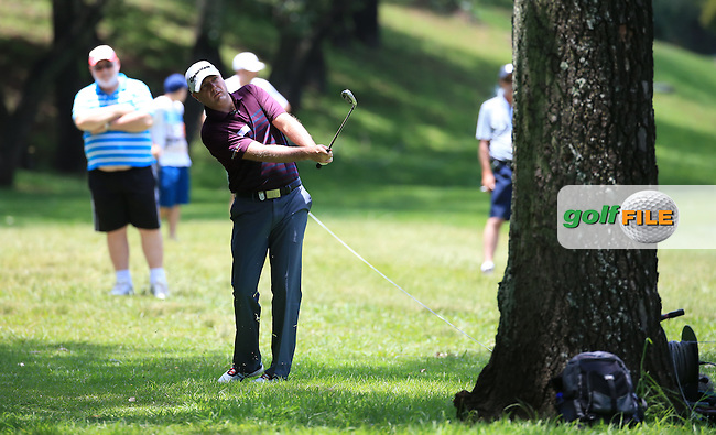 Graeme Storm (ENG) finds the trees and the rough on the second during Round Three of the 2016 BMW SA Open hosted by City of Ekurhuleni, played at the Glendower Golf Club, Gauteng, Johannesburg, South Africa.  09/01/2016. Picture: Golffile | David Lloyd<br /> <br /> All photos usage must carry mandatory copyright credit (&copy; Golffile | David Lloyd)