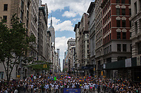 NEW YORK JUNE 25:  Thousands of people take part in the annual New York Gay Pride Parade in Fifth Avenue on June 25, 2017 in New York. (Photo by Maite H. Mateo/VIEWpress/Corbis via Getty Images)