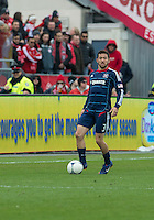 21 April 2012: Chicago Fire defender Dan Gargan #3 in action during a game between the Chicago Fire and Toronto FC at BMO Field in Toronto..The Chicago Fire won 3-2....