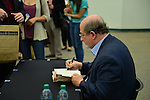 MIAMI, FL - SEPTEMBER 26: Author Salman Rushdie presents and sign copies of His new Book 'Joseph Anton: A Memoir' presented by Books and Books at Chapman Conference Center at Miami Dade College on September 26, 2013 in Miami, Florida. (Photo by Johnny Louis/jlnphotography.com)
