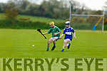 Eyes on the sliotar as both Ballyduff's Killian Boyle and St Brendans Art O'Sullivan are trying to gain possession, in the U14 Feile A Hurling Final in Abbeydorney on Monday.