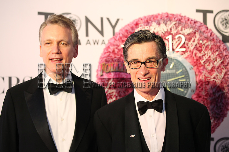 Roger Rees and  Rick Elice pictured at the 66th Annual Tony Awards held at The Beacon Theatre in New York City , New York on June 10, 2012. © Walter McBride / WM Photography