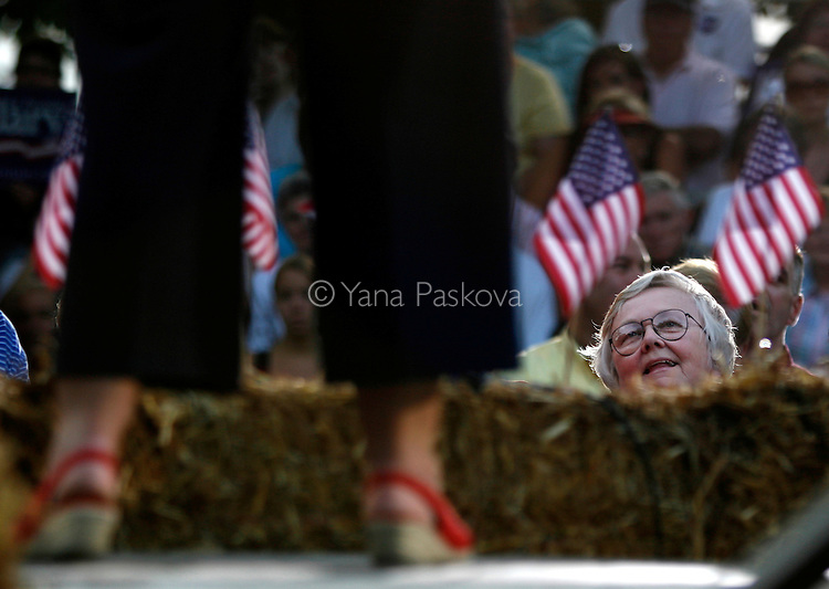 Democratic Presidential hopeful Hillary Clinton (D-NY) met a full crowd at the Iowa State Fairgrounds in Des Moines, Iowa, on July 2, 2007, she when brought along her husband, former President Bill Clinton, on her campaign trail.