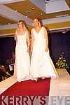 "Aoife O'Connell and Natalie Herbert from Listowel  in wedding dresses by  ""Urma Bridal House"" Listowel. at the Clounmacon fashion show in the Listowel Arms Hotel on  Monday night..   Copyright Kerry's Eye 2008"