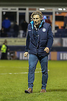 Gareth Ainsworth (Manager) of Wycombe Wanderers leaves the field after victroy against Luton Town during the Sky Bet League 2 match between Luton Town and Wycombe Wanderers at Kenilworth Road, Luton, England on 26 December 2015. Photo by David Horn.