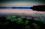 Early evening just after sunset on English Lake in northern Wisconsin.